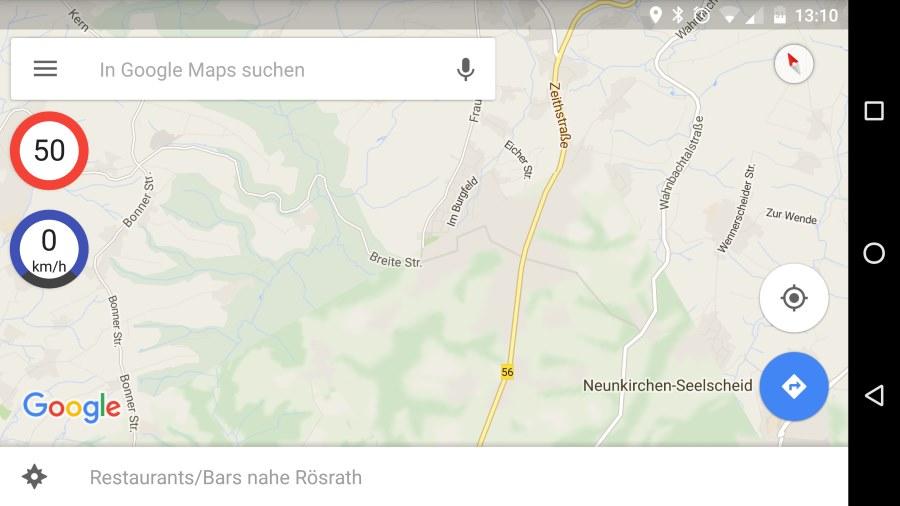 [Download] Mit dieser App könnt ihr eure Geschwindigkeit in Google Maps anzeigen