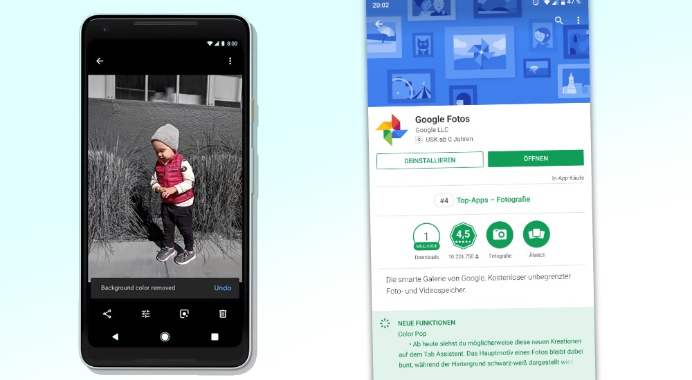 "Google Fotos erhält ""Color Pop""-Feature"