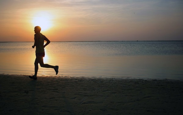 jogging-on-beach