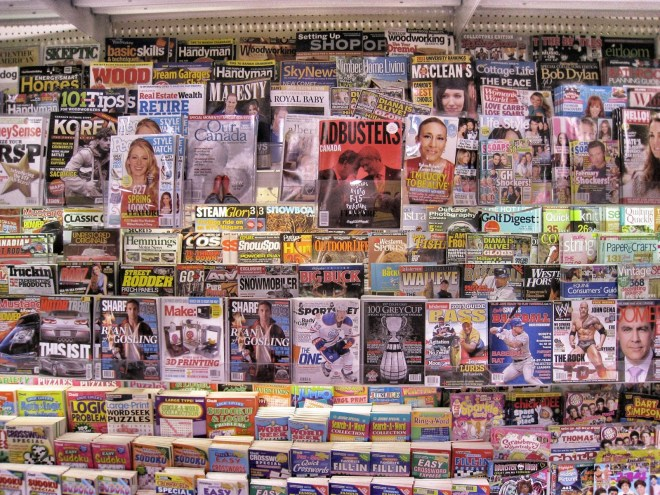 Magazine racks are excellent spots to do research. What niches are here that current games aren't targetting?