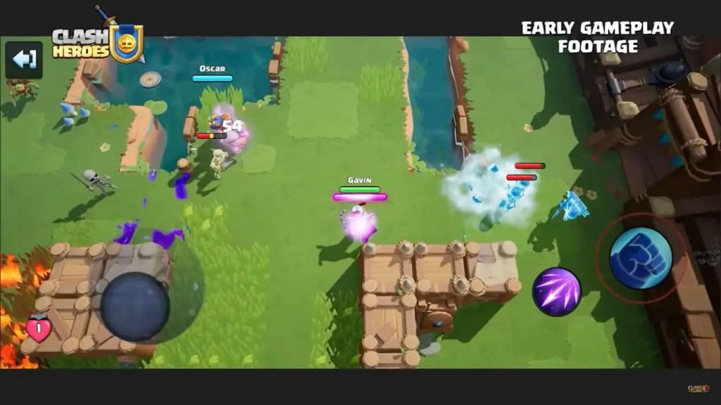 clash heroes gameplay