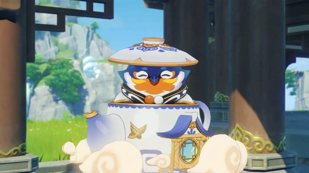 Tubby, the teapot spirit of Genshin Impact