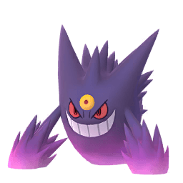 Mega Gengar in Pokémon GO.