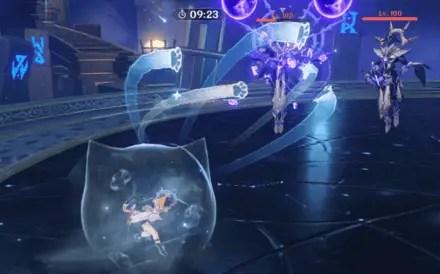 Abyss Lector: Violet Lightning break shields