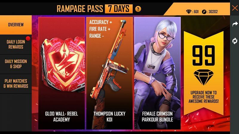 Rampage Pass Info