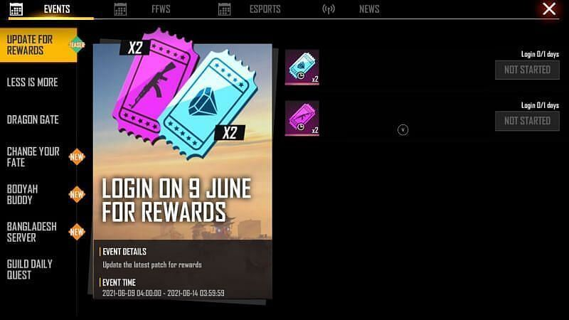 The rewards of Free Fire OB28 Update