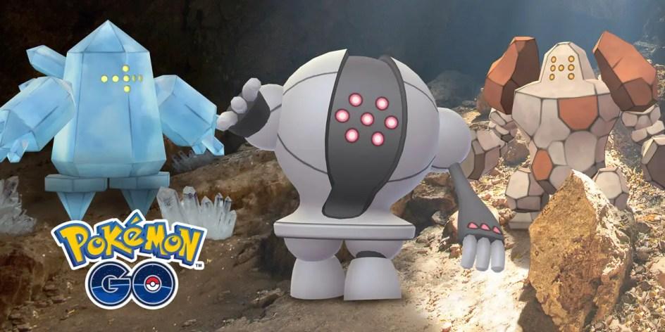 pokemon go regice registeel regirock
