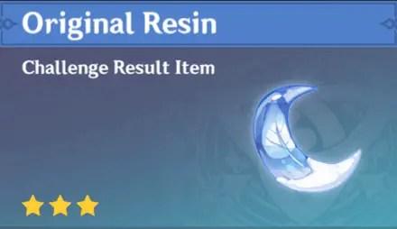 Original Resin In the game