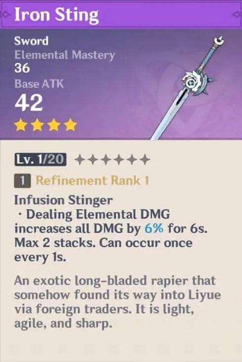 Iron Sting For Kazuha Build Guide