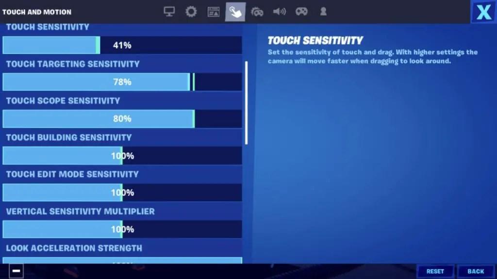 Fortnite Touch Sensitivity