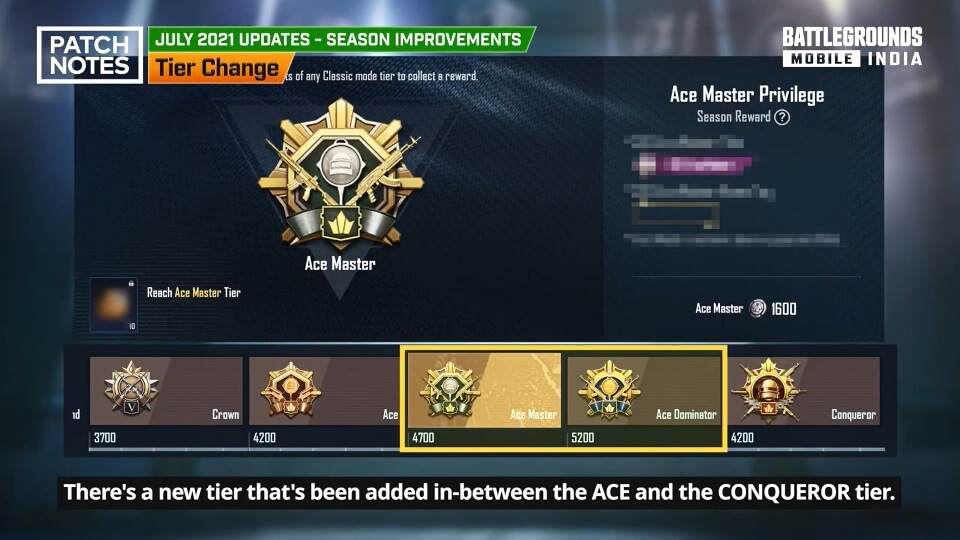 PUBG Mobile new ranking system