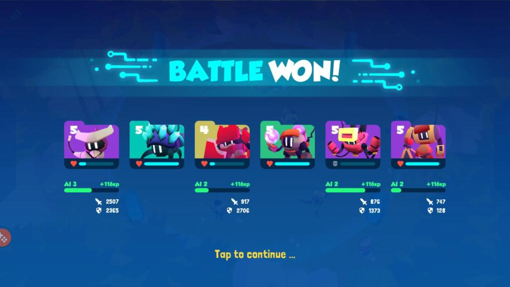 Winning Battles in Botworld Adventure