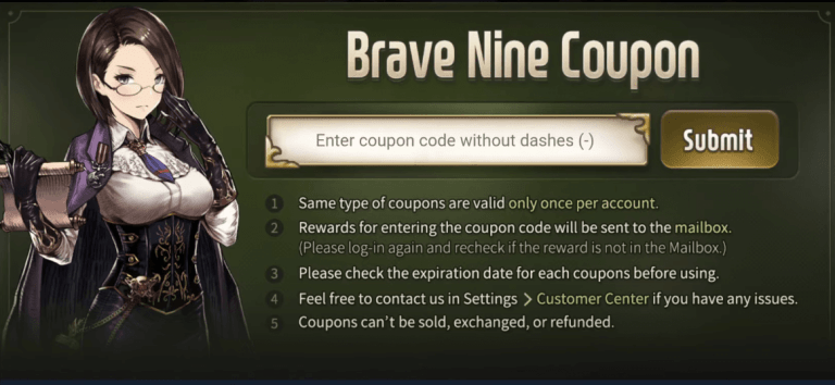 Brave Nine Coupon codes new