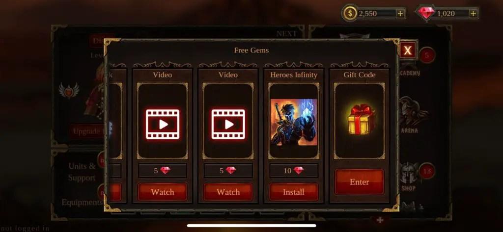 Epic Heroes War Codes