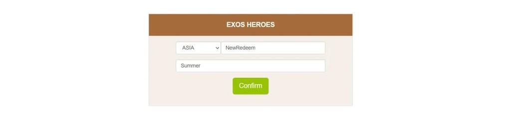 Exos Heroes Codes