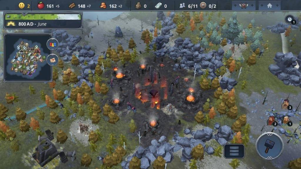 exploring the vast lands of northgard and setting up camp