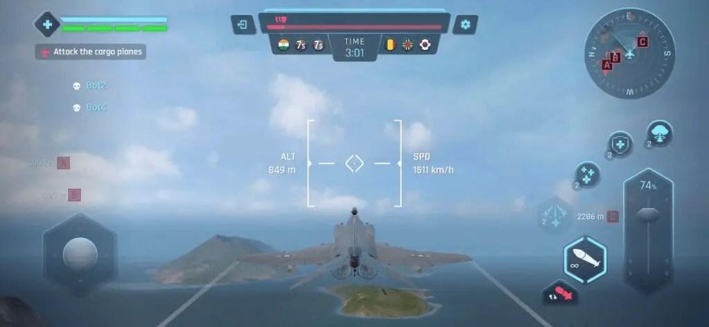 Sky Warriors Airplane Combat Controls