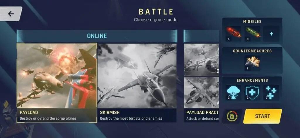 Sky Warriors Airplane Combat battle