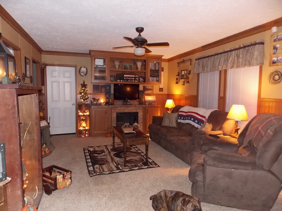 Manufactured Home Decorating Ideas   Primitive Country Style manufactured home decorating   living room