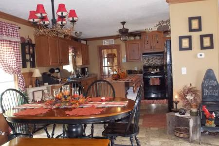 Manufactured Home Decorating Ideas   Primitive Country Style manufactured home decorating   kitchen