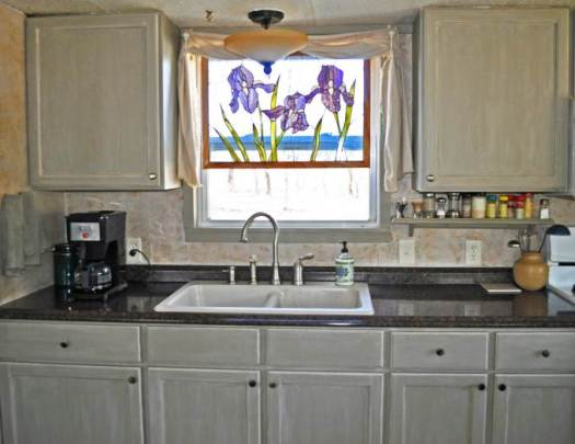 Budget Friendly Mobile Home Kitchen Makeover New Sink And Faucet