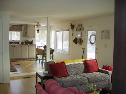 Mobile Home Living Room After Remodel