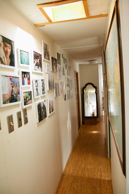 Modern Decor In Mobile Home Hallway