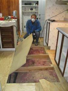 How to Replace Flooring in a Mobile Home   Mobile Home Living All the while  you want to make sure your floor is level  You can always  add what you need to the joists or you can remove a bit if needed