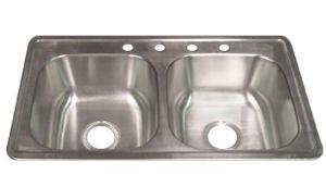 elkay dayton 33 x 19 x 8 stainless steel kitchen sink