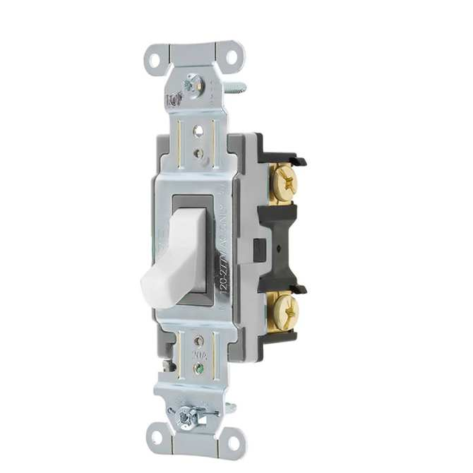 hubbell 15/20amp singlepole white toggle light switch