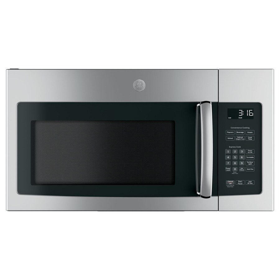 ge 1 6 cu ft over the range microwave stainless steel in the over the range microwaves department at lowes com