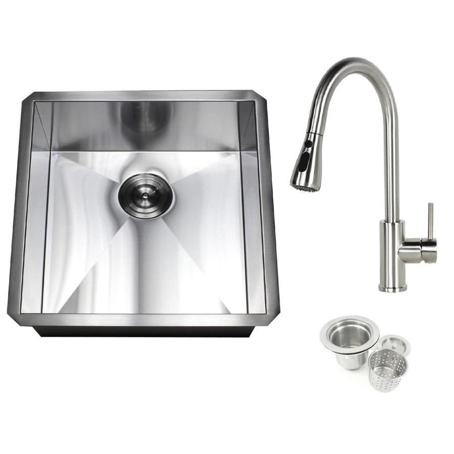 kingsman hardware zero radius undermount 19 in x 20 in stainless steel single bowl kitchen sink in the kitchen sinks department at lowes com