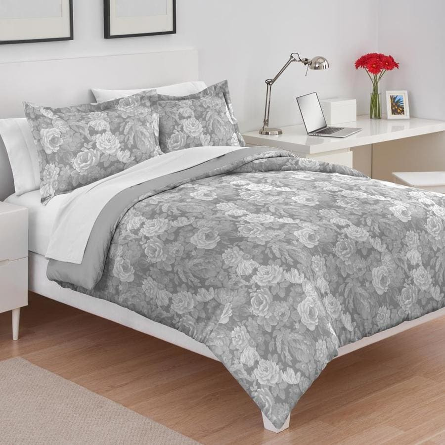 westpoint home utica digitally printed good comforter set 3 piece off white full queen comforter set in the bedding sets department at lowes com