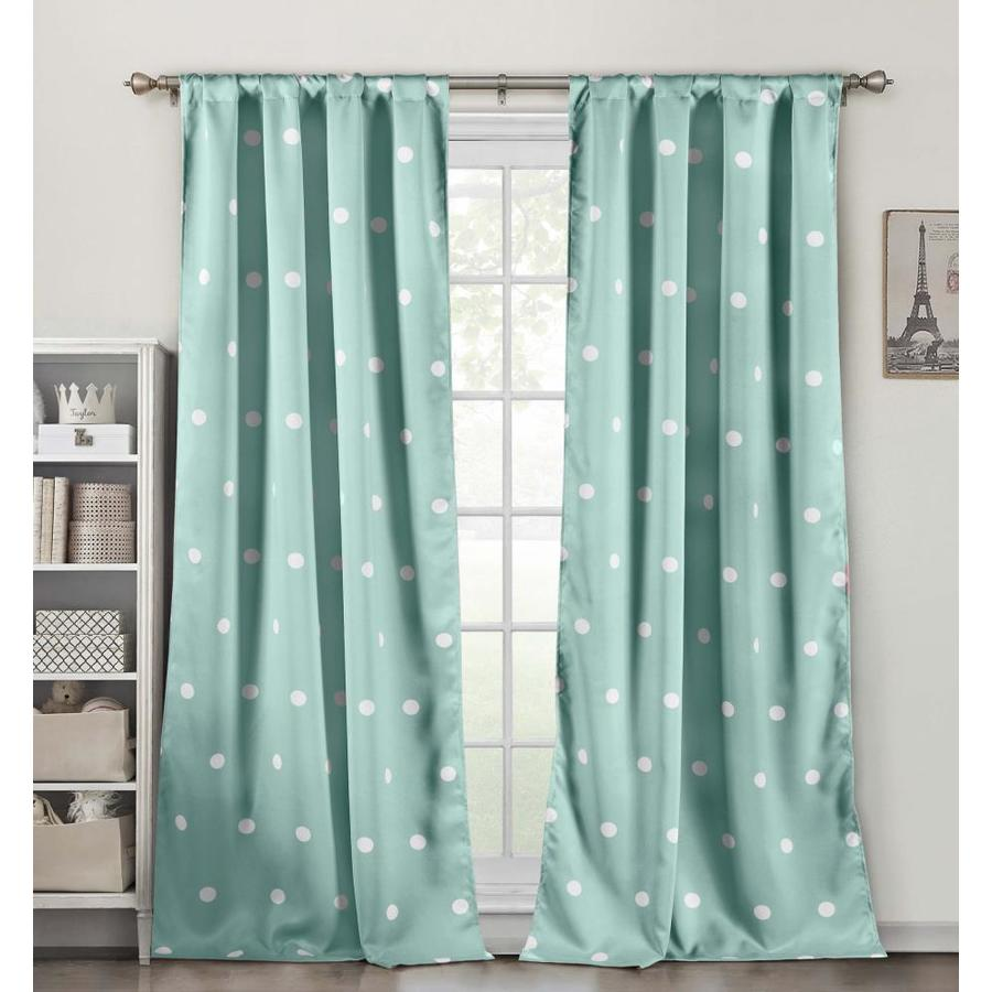 duck river textile 84 in seafoam polyester blackout standard lined rod pocket curtain panel pair in the curtains drapes department at lowes com