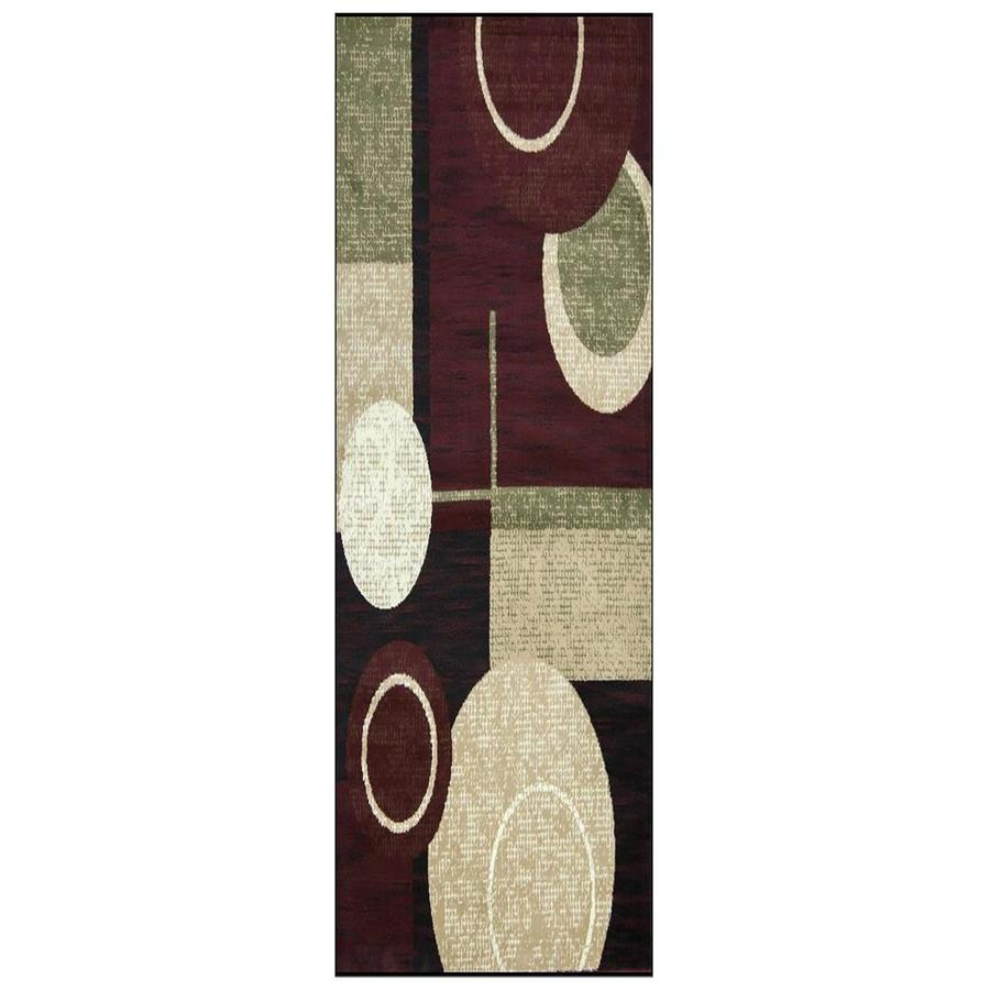 msrugs msrugs cylindrical pattern 3 ft by 8 ft runner rug in the rugs department at lowes com