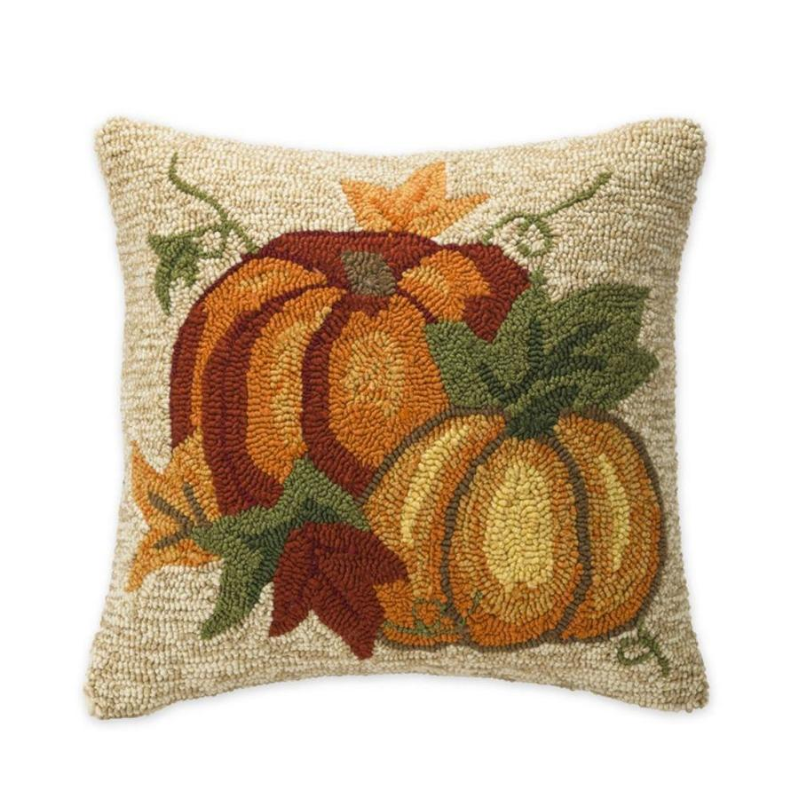 plow hearth floral multi square harvest throw pillow in the outdoor decorative pillows department at lowes com