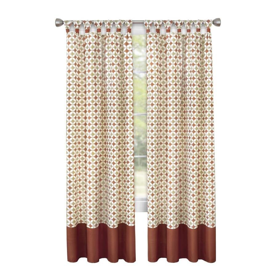 achim 63 in spice tan polyester light filtering rod pocket single curtain panel in the curtains drapes department at lowes com
