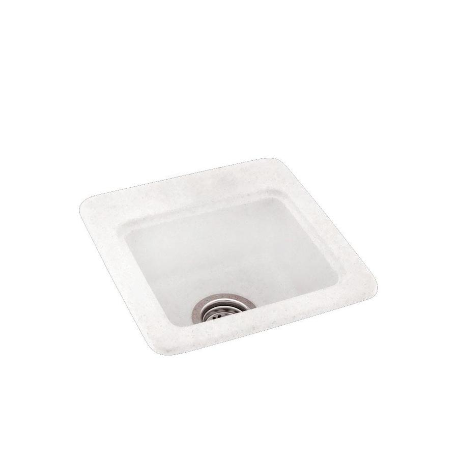 swan 15 in l x 15 in w tahiti ivory 1 hole composite residential bar sink in the bar prep sinks department at lowes com