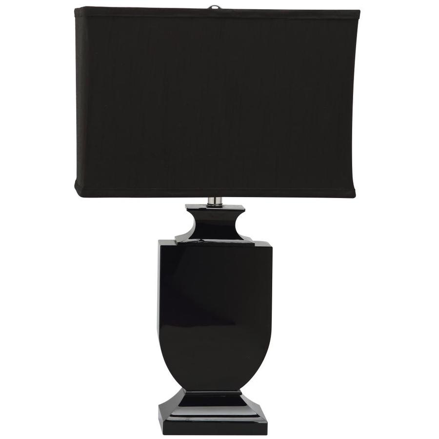safavieh darcy 23 5 in black rotary socket table lamp with fabric shade in the table lamps department at lowes com