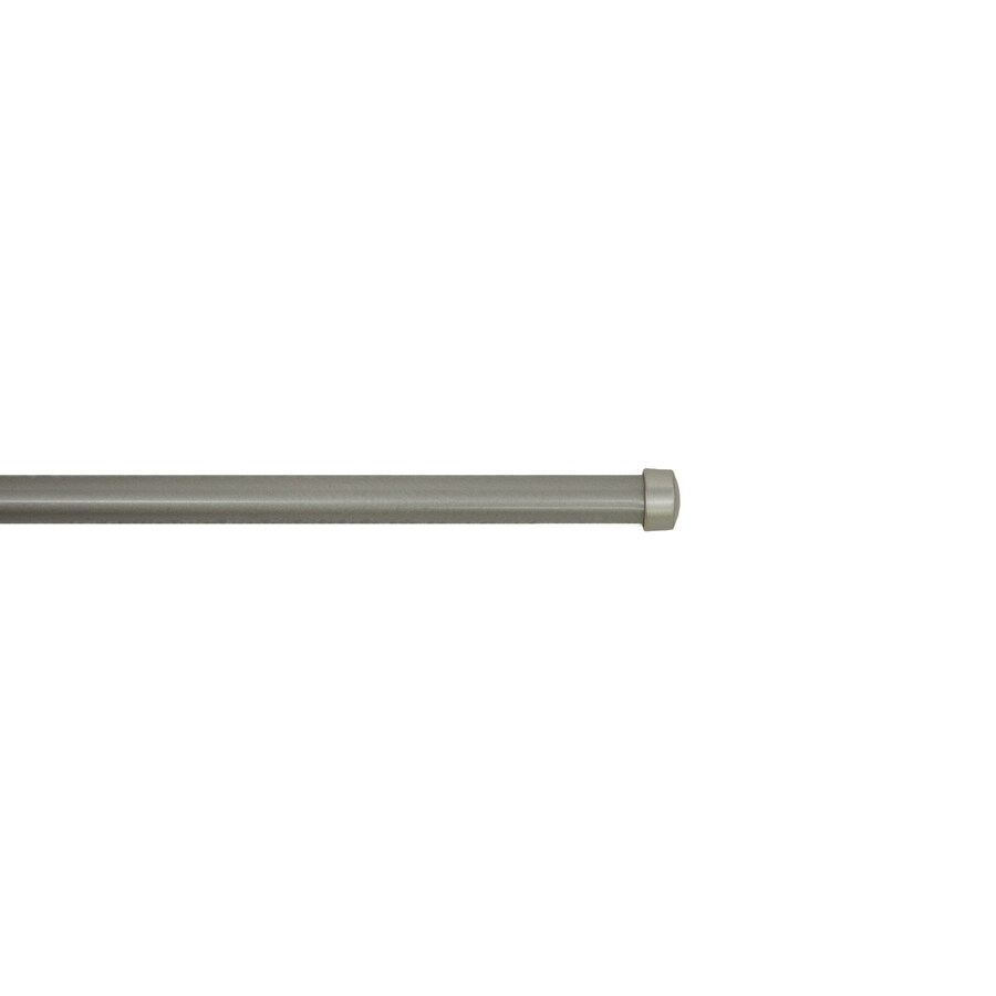 allen roth 36 in to 72 in pewter steel double curtain rod in the curtain rods department at lowes com