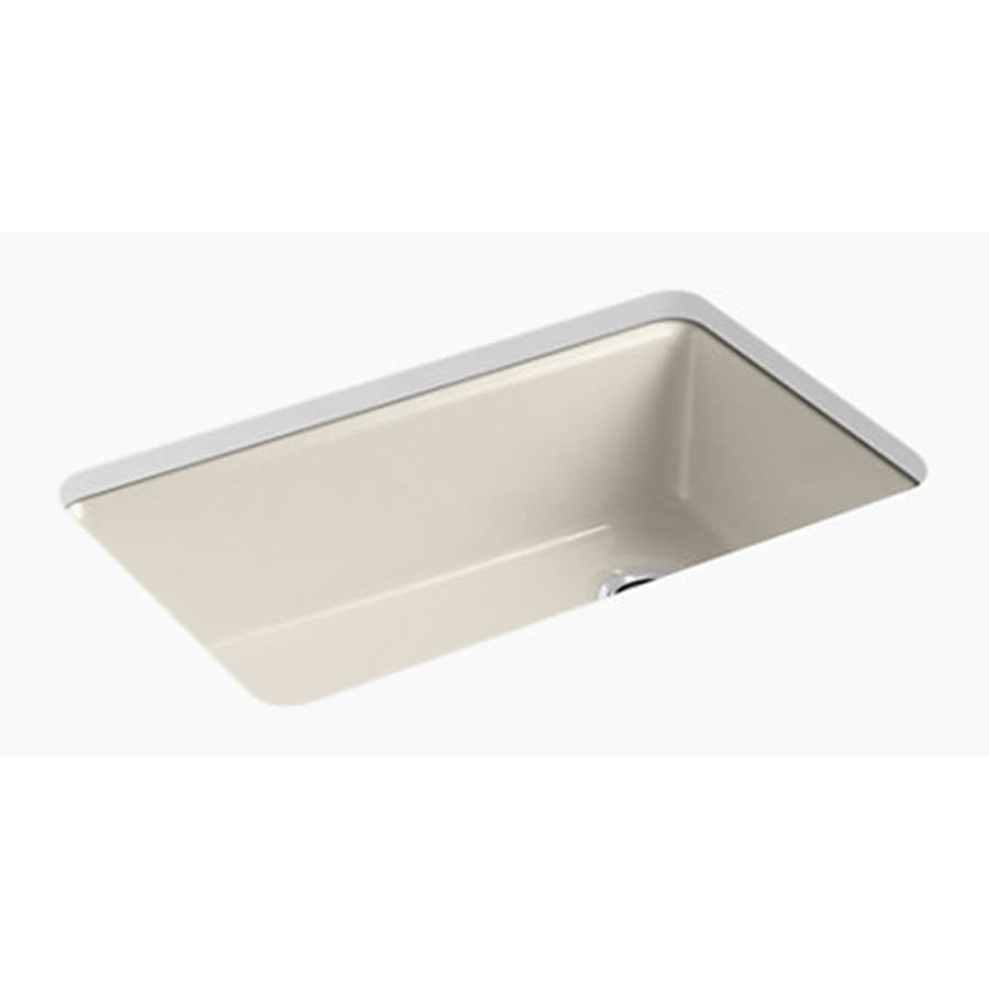kohler cape dory undermount 33 in x 22 in dune double equal bowl kitchen sink in the kitchen sinks department at lowes com
