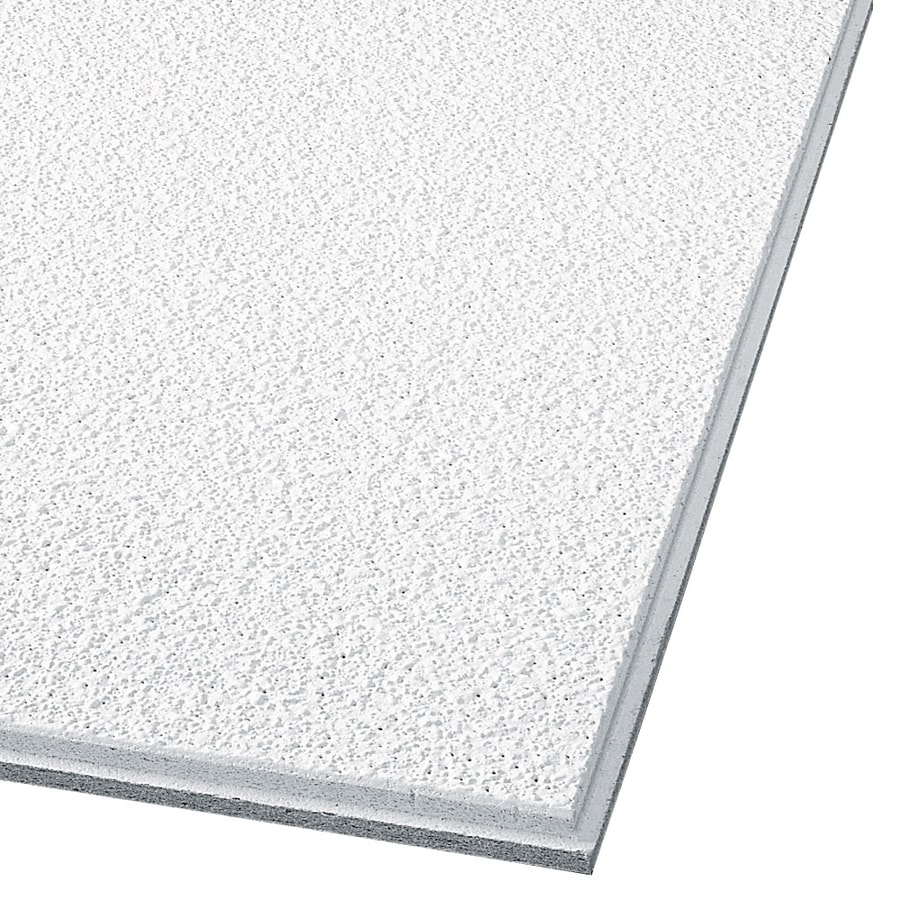 armstrong ceilings 24 in x 24 in supertuff 12 pack white textured 15 16 in drop acoustic panel ceiling tiles