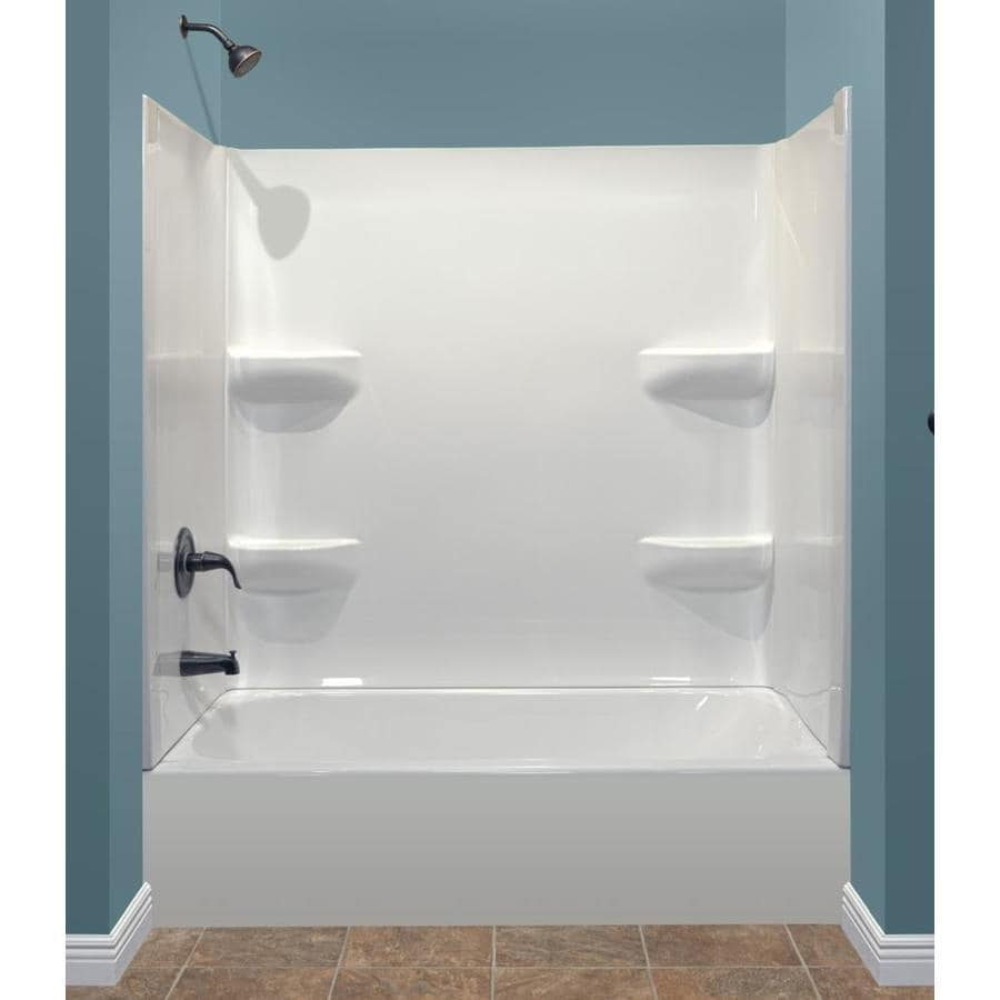 Shop Style Selections 53875 In White With Left Hand Drain Bathtub At
