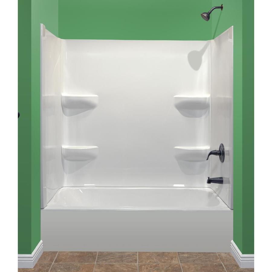 Shop Style Selections White Acrylic Bathtub Wall Surround