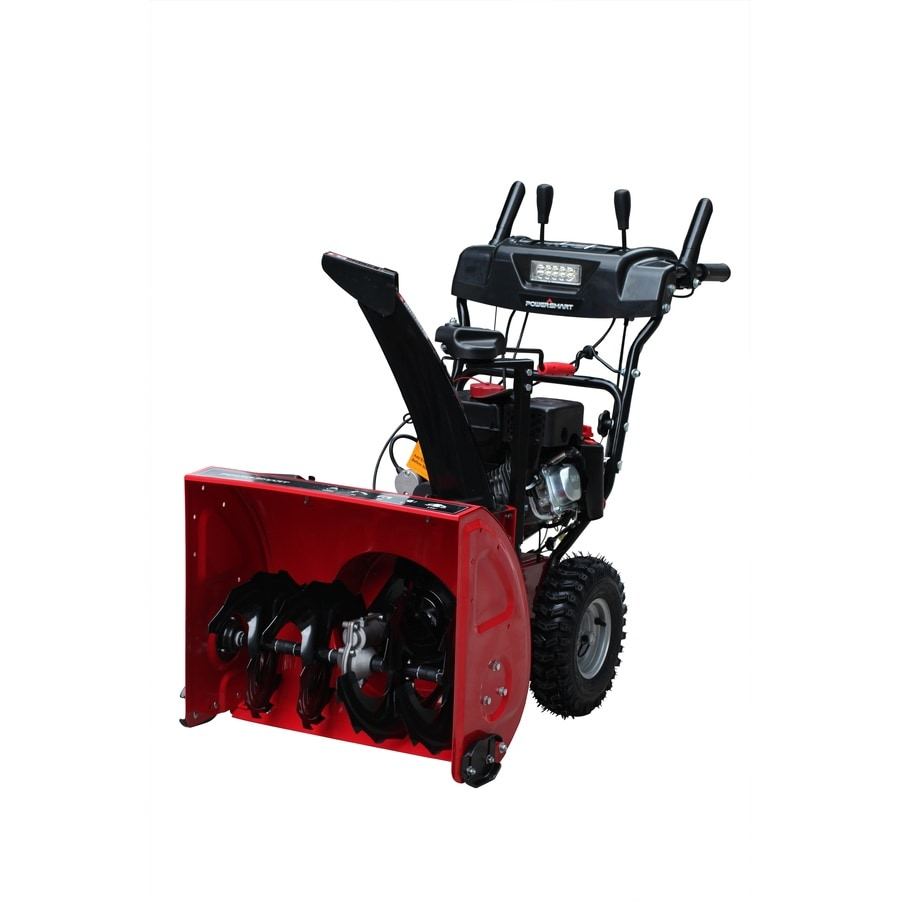 Shop Power Smart 208 Cc 24 In Two Stage Electric Start Gas Snow Blower With Headlight At Lowes Com