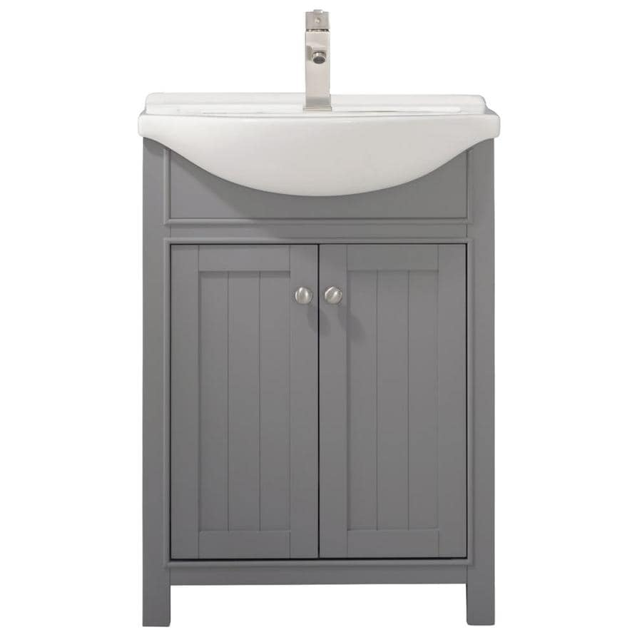design element marian 24 in gray single sink bathroom vanity with white porcelain top