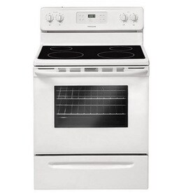 Frigidaire Smooth Surface Freestanding 5.3-cu ft Self-Cleaning Electric Range (White) (Common: 30-in; Actual: 29.88-in)