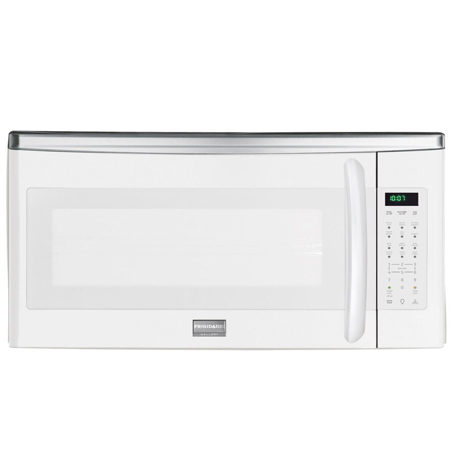 frigidaire gallery 1 8 cu ft over the range microwave white