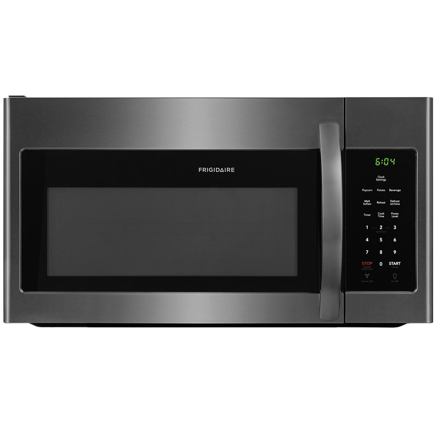 frigidaire 1 6 cu ft over the range microwave black stainless steel