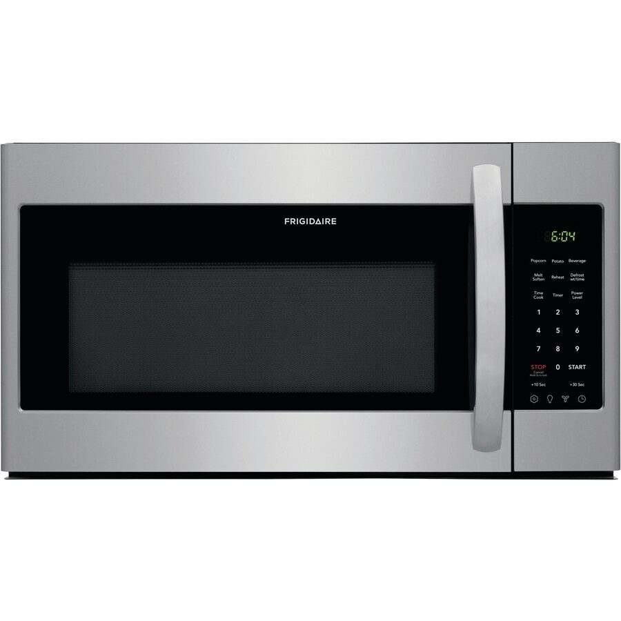 frigidaire 1 8 cu ft over the range microwave easycare stainless steel lowes com